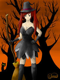 witch erza scarlet halloween contest entry by nikki0228 on