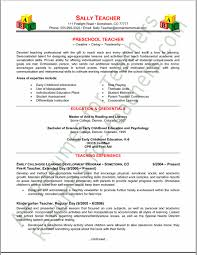 Sample Resume For Teaching Profession For Freshers by Preschool Teacher Resume Tips And Samples