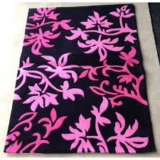 Pink Floral Rugs Black And Pink Rugs Roselawnlutheran
