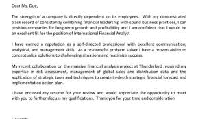 cover letter examples for financial analyst finance analyst cover