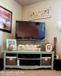 console table under tv remodelaholic turn an entertainment center into a tv console table