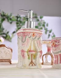 pink cat ceramic toothbrush holder soap dish bathroom accessories