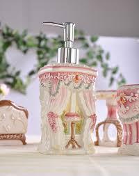 Porcelain Bathroom Accessories Sets Pink Cat Ceramic Toothbrush Holder Soap Dish Bathroom Accessories