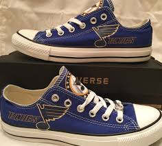 st louis blues custom made converse chuck sneakers nhl by