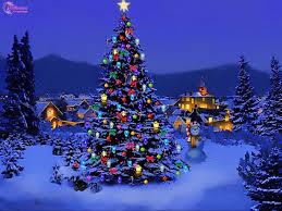christmas tree with snow christmas tree lights snow happy holidays regarding christmas