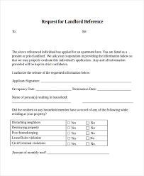 work reference for landlord template 28 images sle work