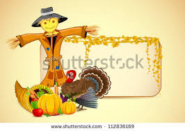 illustration scarecrow thanksgiving vegetable stock vector