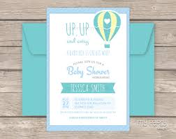 air balloon boy baby shower printable invitation my design