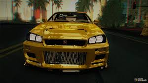 custom nissan skyline drift nissan skyline gt r r34 v spec ii 2002 drift version for gta san