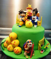 Dragon Ball Z Cake Decorations by Dragon Ball Z Cake Little