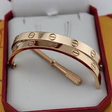 bracelet cartier love images Aaa cartier love pink gold bracelet copy with screwdriver jpg