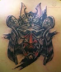 hannya mask samurai tattoo samurai demon mask tattoo