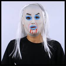 halloween party cosplay scary mask halloween toothy zombie bride