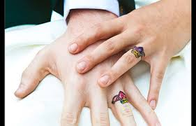wedding rings tattoos designs wedding rings