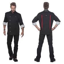 veste de cuisine personnalisé veste de cuisine rock chef homme manches longues publicitaire