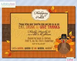 thanksgiving potluck invitation rhyme