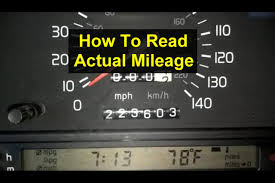 car mileage how to check read the actual mileage of a volvo 850 1993 1994