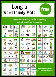 long vowel printables read u0027n stick mats for long a the