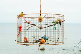 How To Make A Birdcage Chandelier Birdcage Pendant Light Chandelier