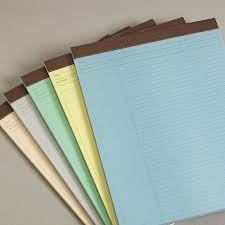 freeleaf multicolored annotation ruled pads letter paper levenger