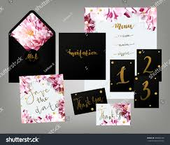 tony spring inspired wedding invitation suite stock vector