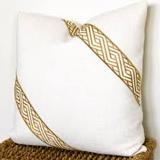 Ivory Pillow Cover Gold Pillow Designer Pillows Off White And