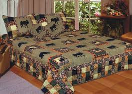 american hometex 5689 k moose medley quilt king size 108 inch x 90