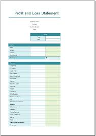 Profit And Loss Statement Excel Template Free Profit And Loss Statement Template For Excel 2007 2016