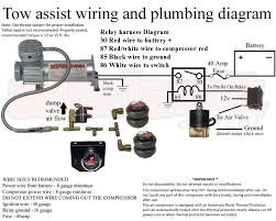 how to wire and plumb the air suspension compressor on the tow