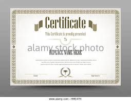 certificate diploma completion vector design stock photos