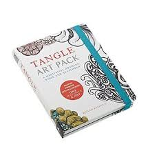 tangle art pack a meditative drawing book and sketchpad adapted