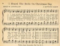 i heard the bells sheet vintage sheet
