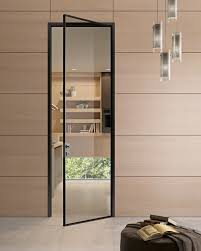 hinged glass and aluminium door g like gidea transparent