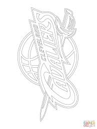 cleveland cavaliers logo coloring page free printable coloring pages