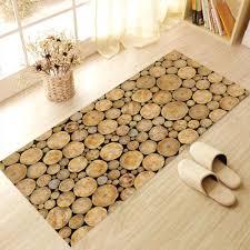 online shop creative 3d skid proof floor stickers log wood pattern
