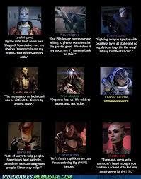 Funny Mass Effect Memes - akira s mest up brain mass effect alignments