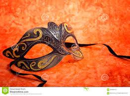 orange mardi gras mardi gras mask on orange background stock photo image of