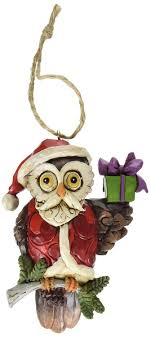 owl christmas jim shore heartwood creek christmas owl resin