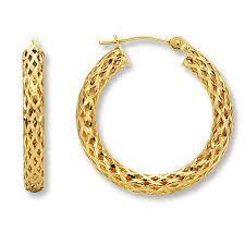 14kt gold earrings gold hoop earrings for women
