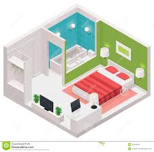 Icon Floor Plans Vector Isometric Hotel Room Icon Stock Images Image 33475364