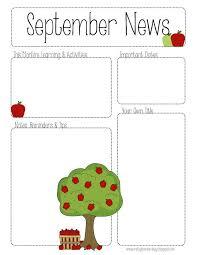 preschool newsletter template hitecauto us