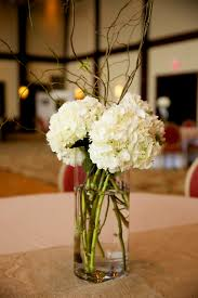 hydrangeas curly willow simple wedding centerpieces our forever