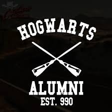 alumni decal hogwarts alumni decal outlaw decals