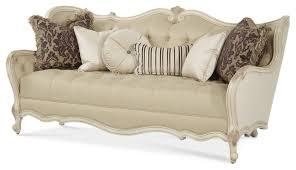 wood trim sofa aico lavelle blanc wood trim tufted sofa victorian sofas by