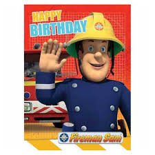 happy birthday fireman sam birthday card fs002 character brands