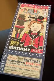custom circus invitations kio kreations vintage circus birthday party colorful kid u0027s