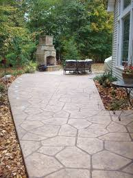 Pictures Of Stamped Concrete Walkways by Patio Concrete Stamper Side Of House Jpg Custom Back Yard