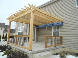 deck shade structures pergolas home outdoor decoration