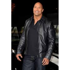 leather jackets handmade new faster the rock dwayne johnson black leather jacket