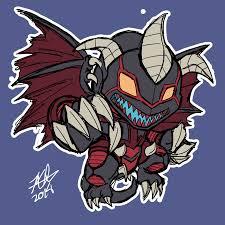 fan art drew red dragon archfiend since next to blue eyes he u0027s my